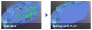 CAD Datenreparatur: Baugruppe und massive Außenhülle