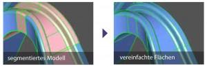 Segmentiertes Modell und vereinfachte Flächen