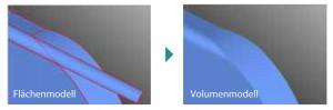 3D Daten Reparatur:Flächen- und Volumenmodell