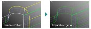 CAD-Datenreparatur:Erkannte Fehler und Reparaturergebnis